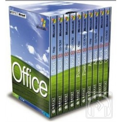Office 2003 XP Set  (5 Cd-Rom   5 Kitap)